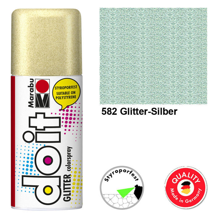 Marabu do it GLITTER, 150ml, Glitter-Silber
