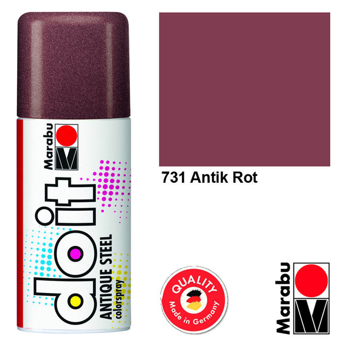 Marabu do it ANTIQUE STEEL, 150ml, Antik Rot