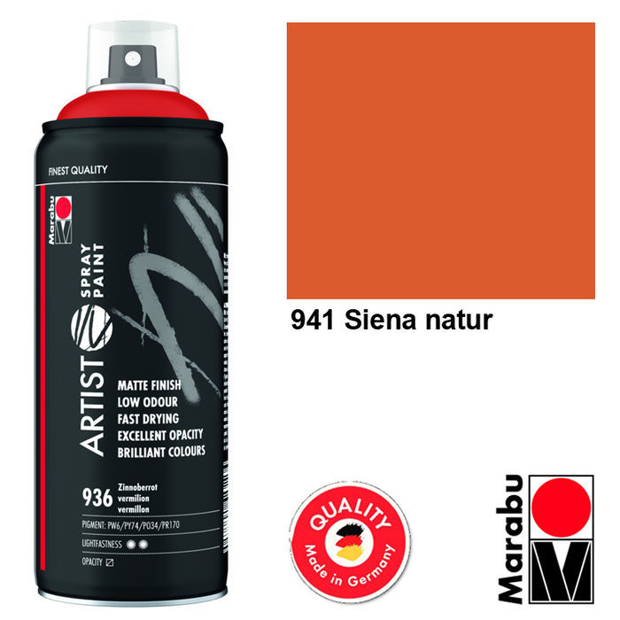 Marabu Artist Spray Paint, 400ml, Siena natur