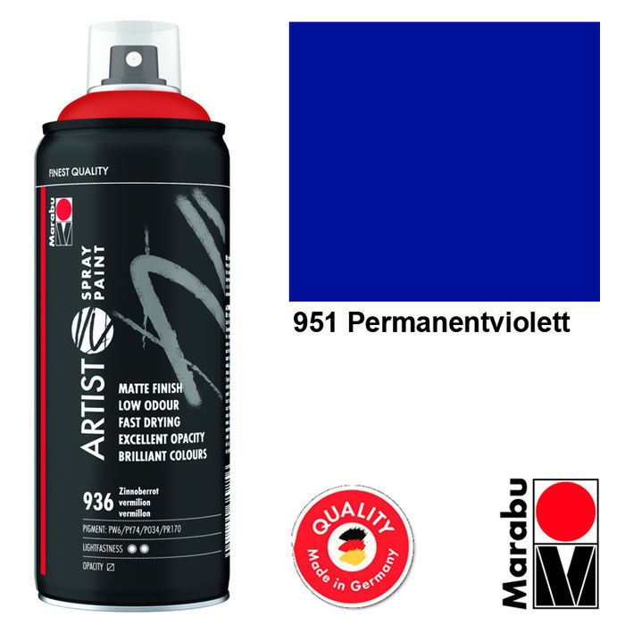 Marabu Artist Spray Paint, 400ml, Perm.violett