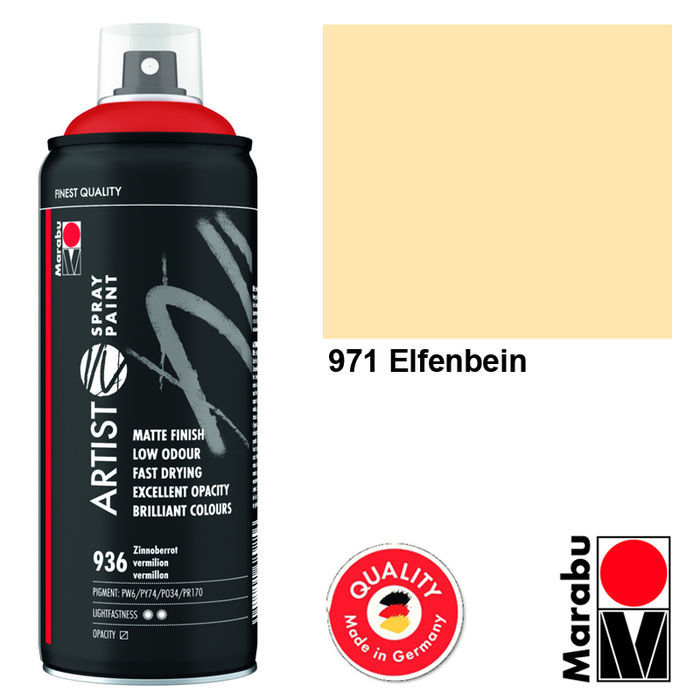 Marabu Artist Spray Paint, 400ml, Elfenbein