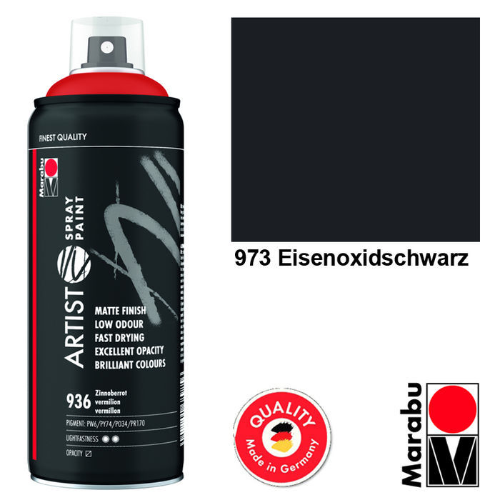 Marabu Artist Spray Paint 400ml Eisenoxidschw.