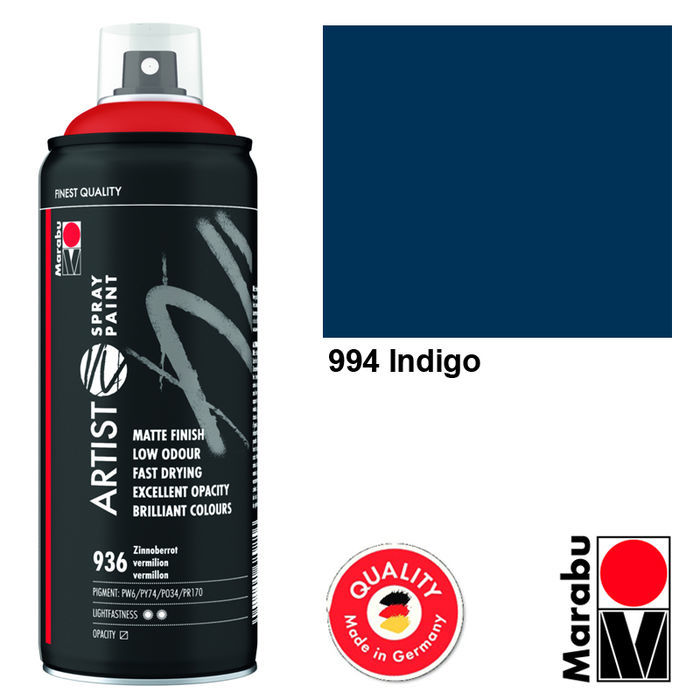 Marabu Artist Spray Paint, 400ml, Indigo