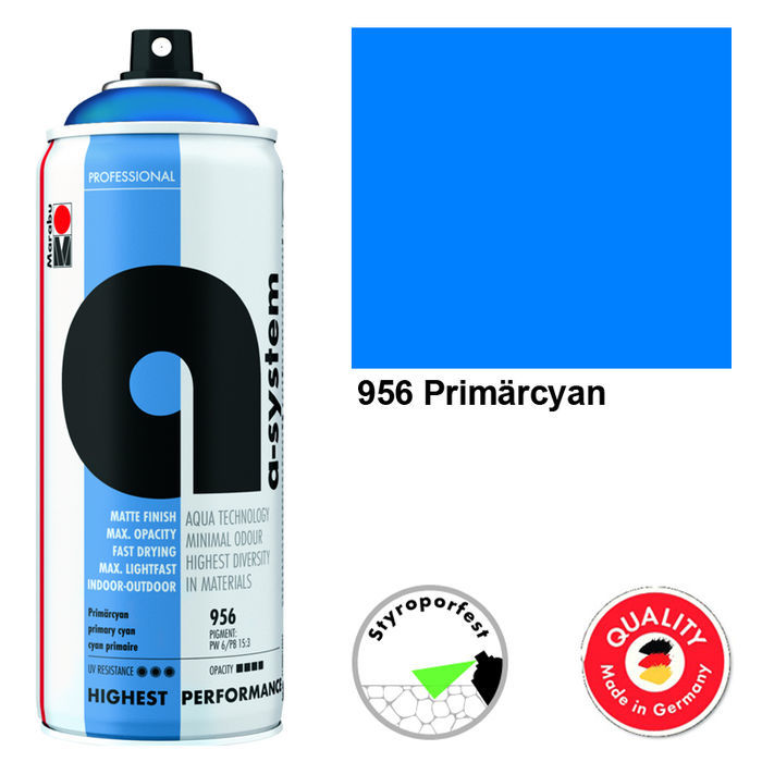 Marabu a-system Spray, 400ml, Primärcyan