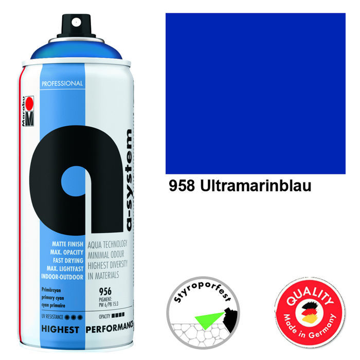 Marabu a-system Spray, 400ml, Ultramarinblau