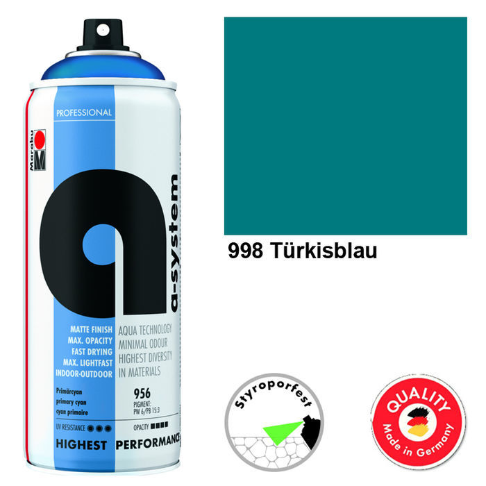 Marabu a-system Spray, 400ml, Türkisblau