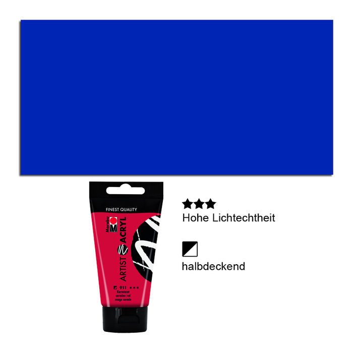 Artist Acryl, Tube 75 ml, Ultramarinblau
