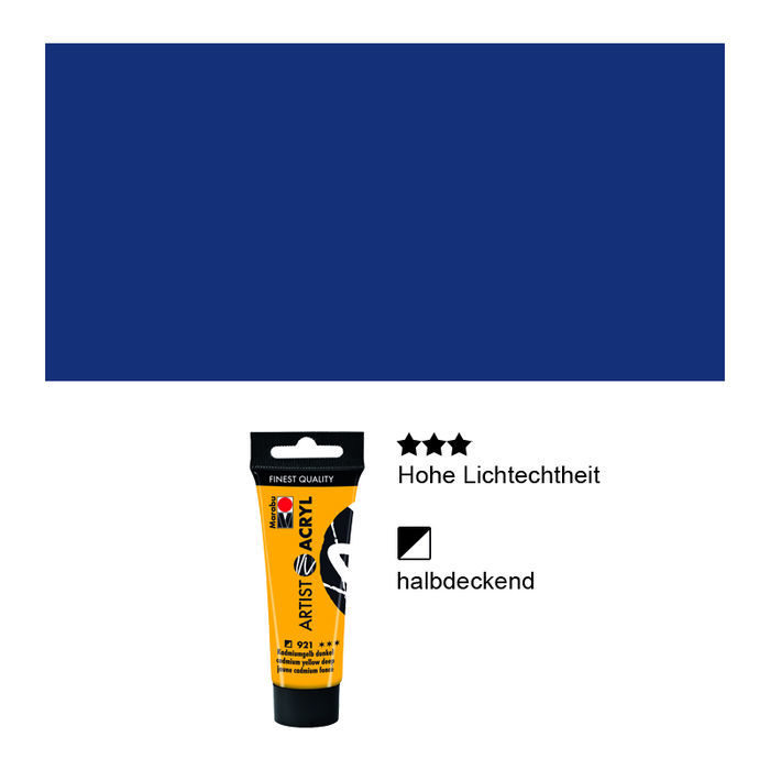 Artist Acryl, Tube 22 ml, Phthaloblau