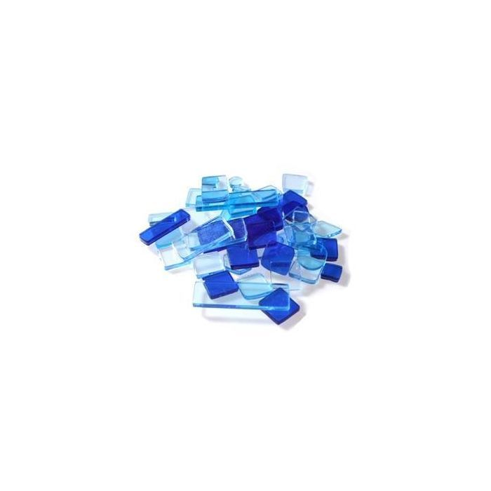 Luzy Mosaik Transparent, 40g, Blau Mix