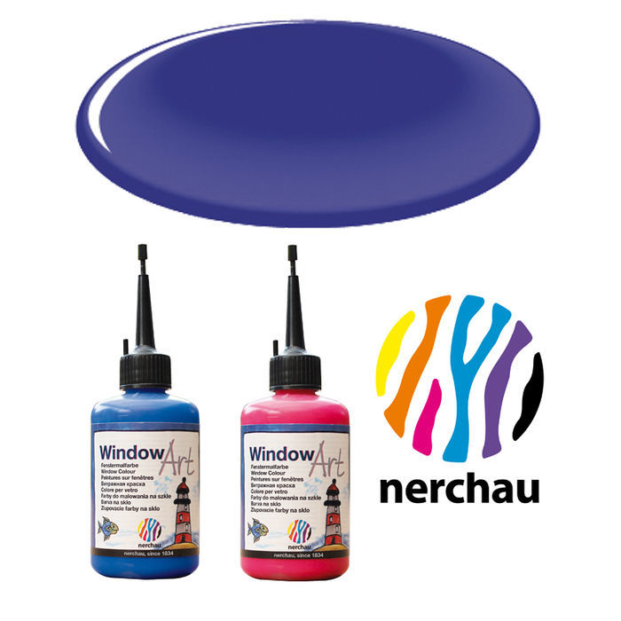 Nerchau Window Art, 80 ml, Kobaltblau PREISHIT