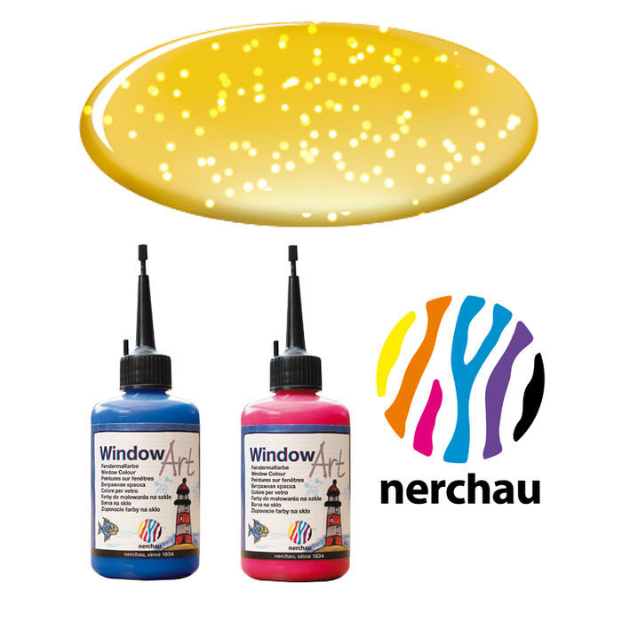 Nerchau Window Art, 80 ml, Gold-Glitter PREISHIT
