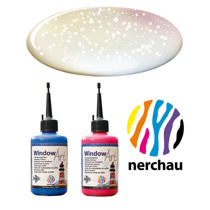 Nerchau Window Art 80 ml Perlmutt-Glitter PREISHIT