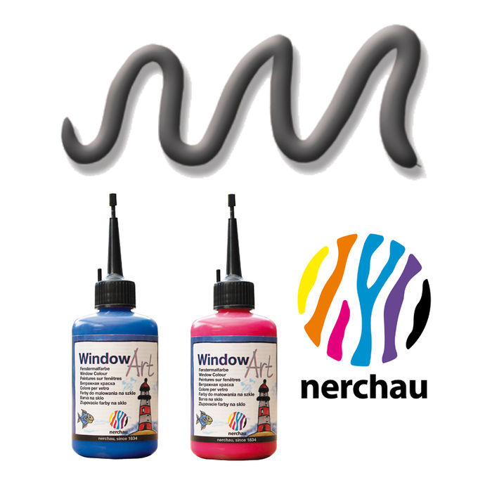 Nerchau Window Art, 80 ml, Konturen-Anthrazit