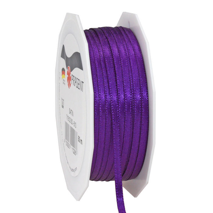 Satinband, 3mm x 50m, violett