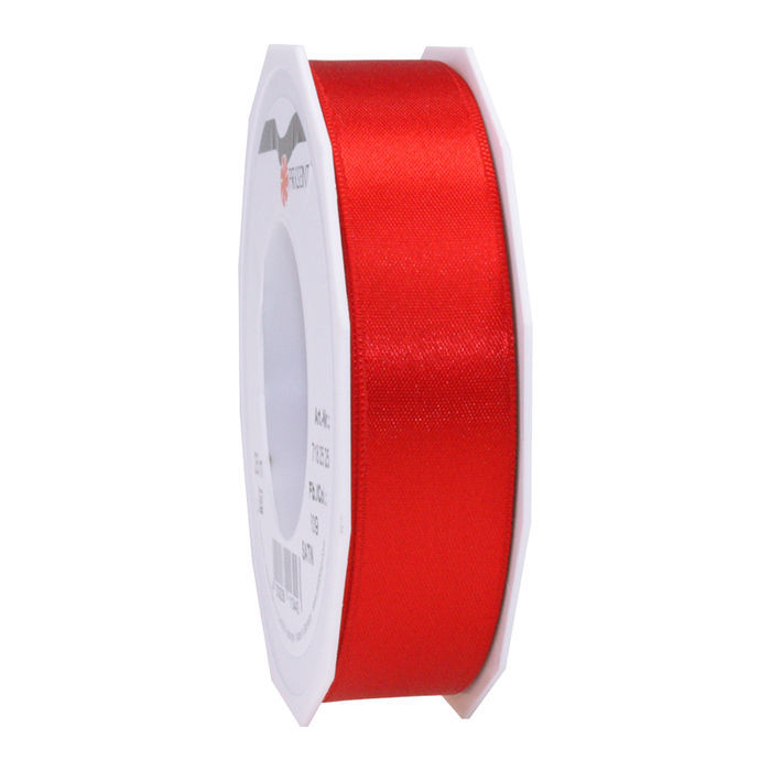 Satinband, 25mm x 25m, rot