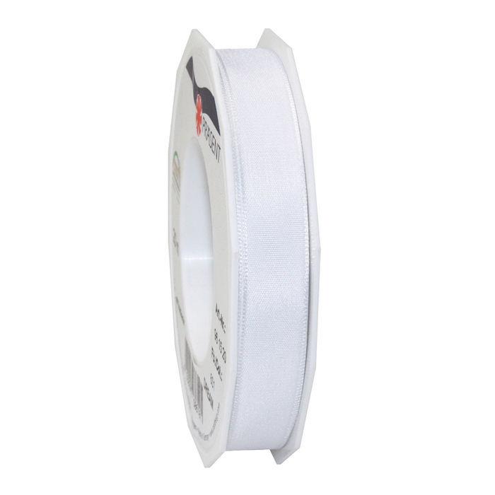Seidenband mit Draht, 15mm x 20m, weiß - Kunstseidenband mit Draht ...