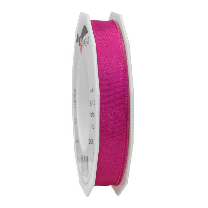 Seidenband mit Draht, 15mm x 20m, purpur - Kunstseidenband mit Draht ...