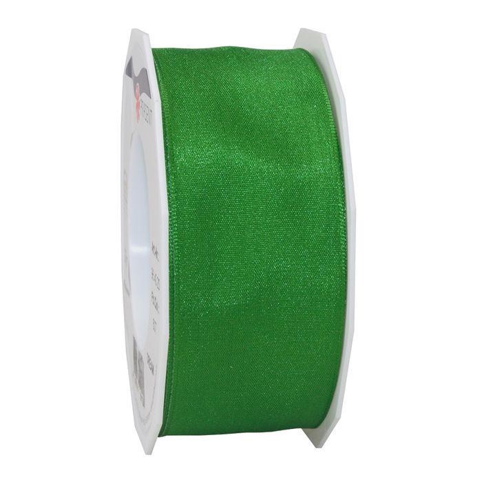 Seidenband mit Draht, 40mm x 20m, grün - Dekoband Drahtkante 40mm ...
