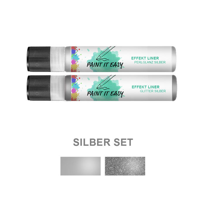 Paint It Easy Effekt-Liner Silber Set