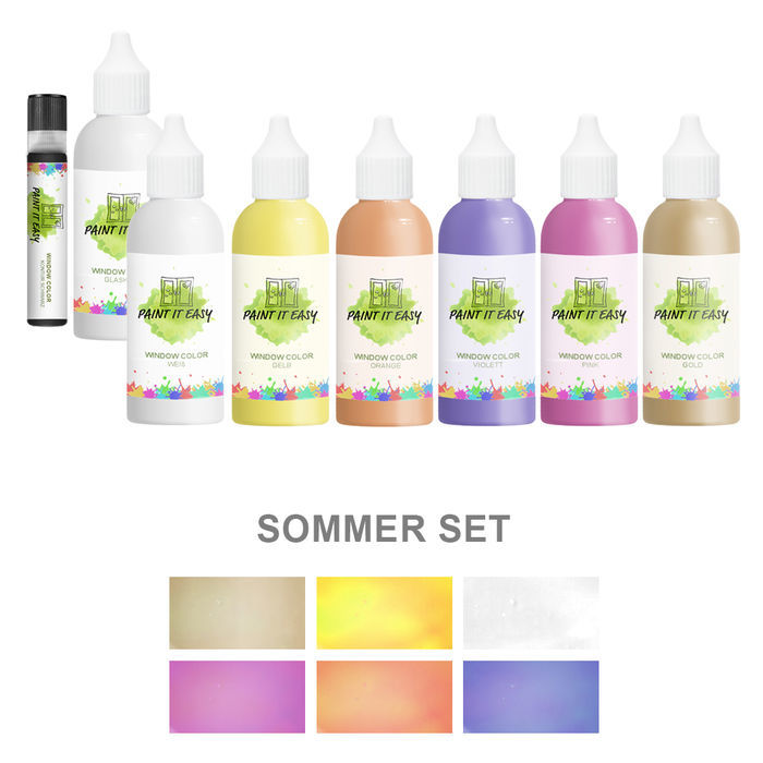 Paint It Easy Window-Color 85ml Sommer Set