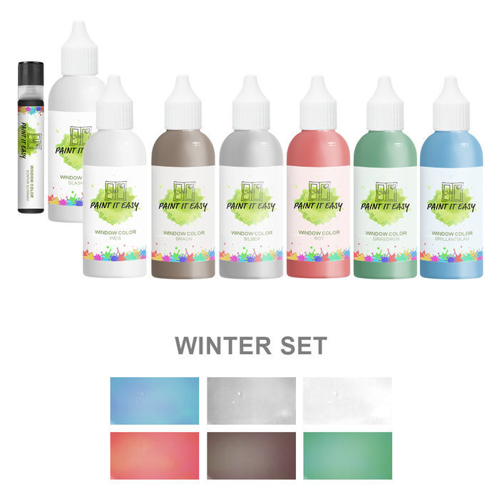 Paint It Easy Window-Color 85ml Winter Set