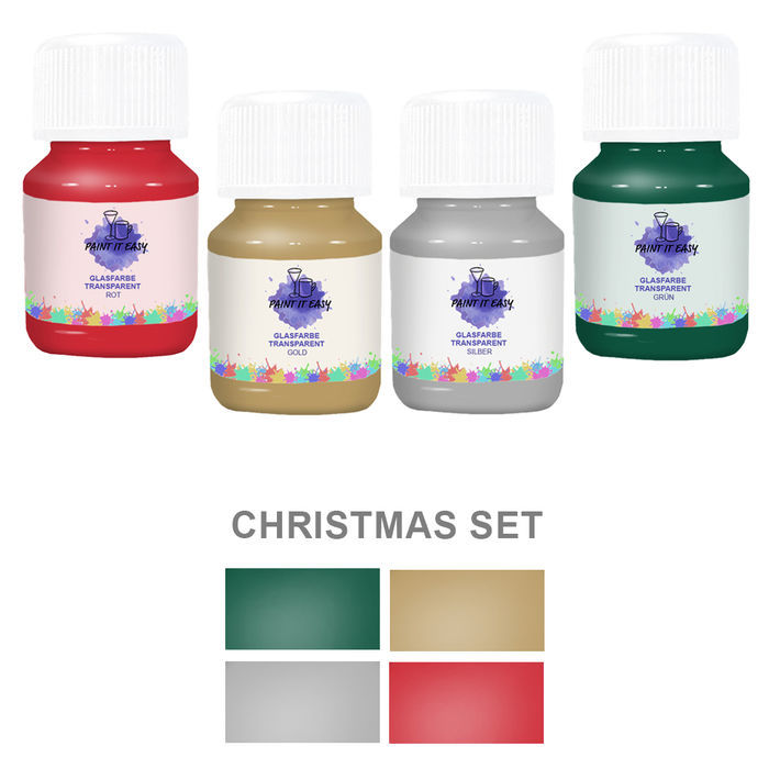 Paint It Easy Glasfarbe Transp. Christmas Set