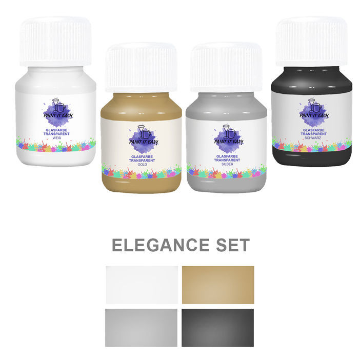 Paint It Easy Glasfarbe Transp. Elegance Set