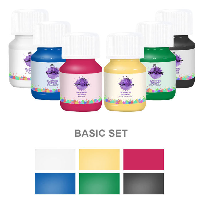 Paint It Easy Glasfarbe Deckend Basic Set