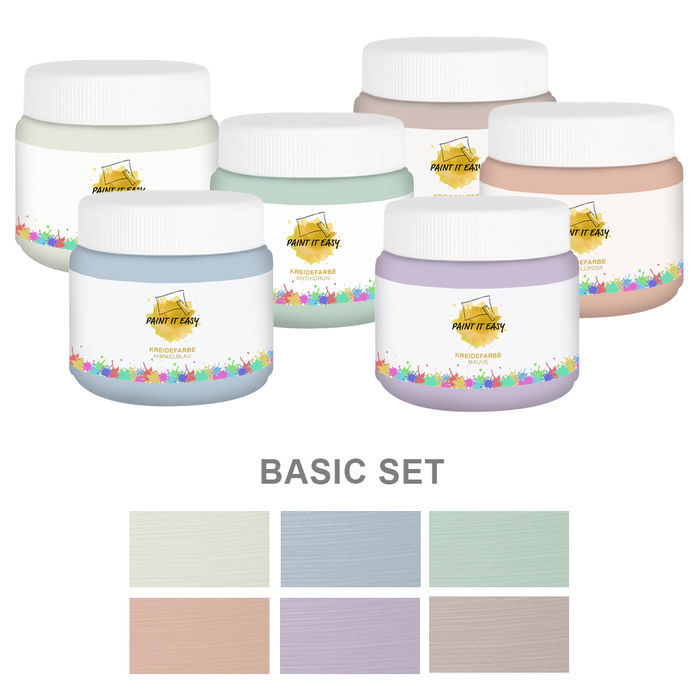 Paint It Easy Kreidefarbe 250ml Basic Set