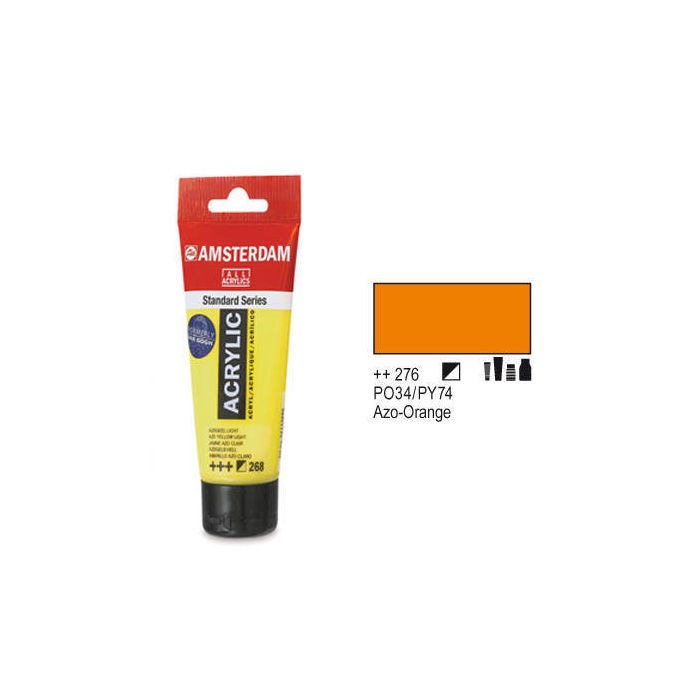 Amsterdam Acrylfarbe 120ml, Azo-Orange
