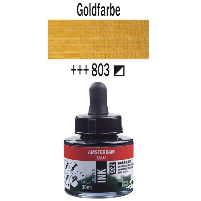 Amsterdam Acryl Ink, 30 ml, Goldfarbe