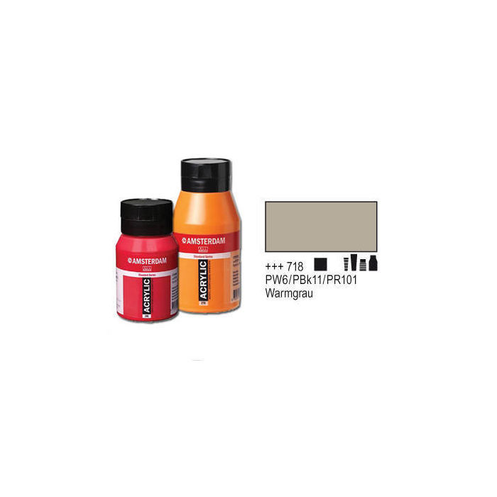 Amsterdam Acrylfarbe 500ml, Warmgrau