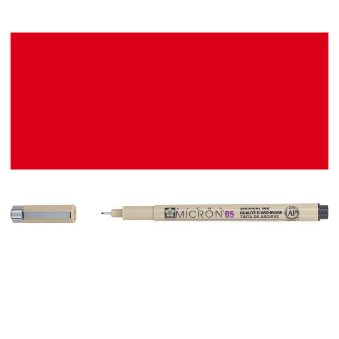 Pigma Micron, 0,45 mm, Rot