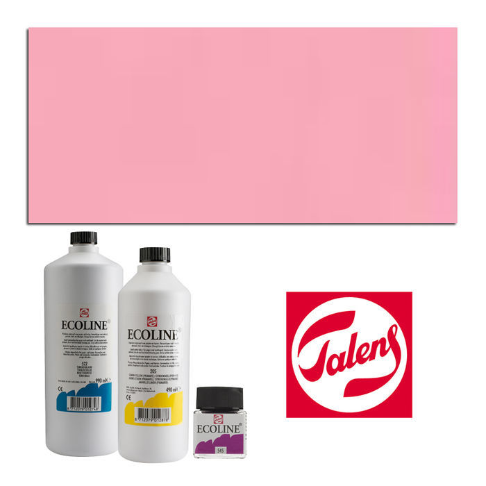 SALE Talens Ecoline, 30 ml Glas, Pastellrot