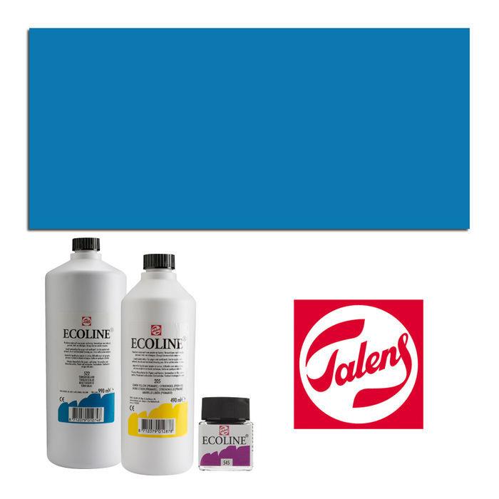 NEU Talens Ecoline, 490 ml Flasche, Preußischblau | eBay