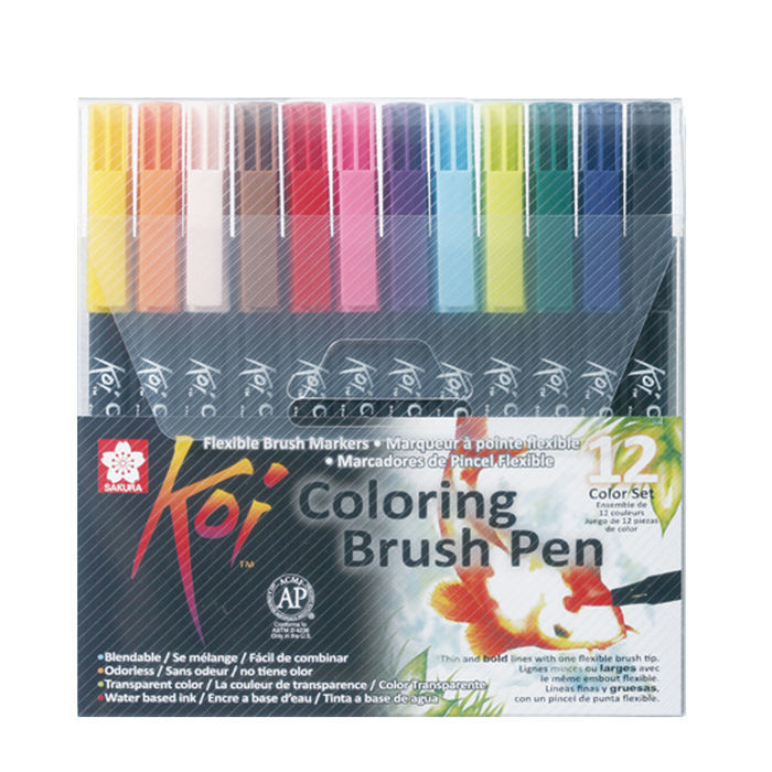 Koi Coloring Brush Pen, 12er Set