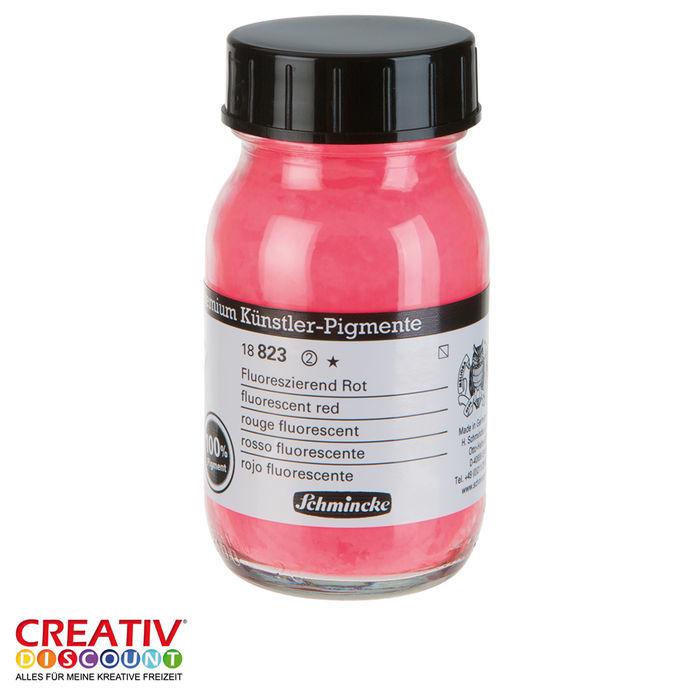 Pigmente Fluoreszierend Rot 100 Ml Schmincke Künstlerpigment