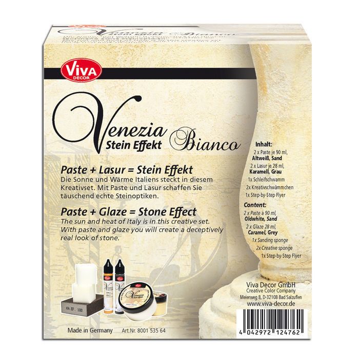 Viva Decor Venezia Stein-Look Set Bianco