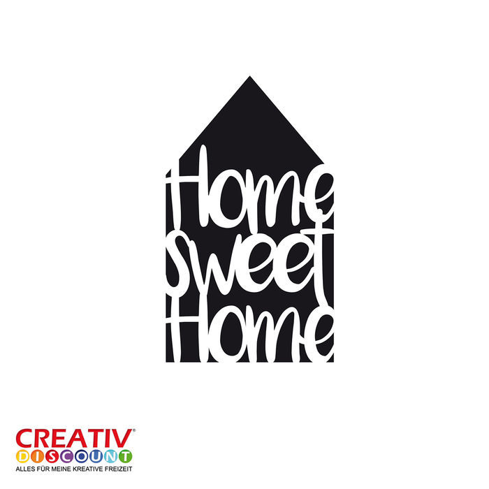 Universal-Schablone DIN A4, Home sweet Home