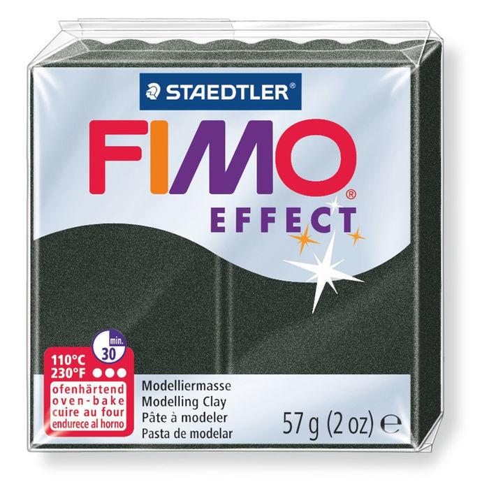 Fimo Effect Trendfarbe 57g, Pearl Schwarz
