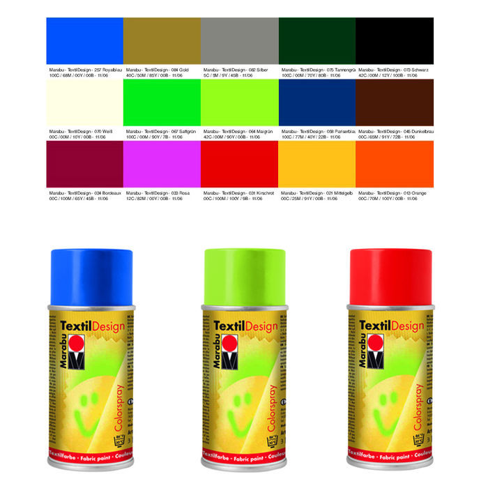 Marabu Textil Design Colorspray, 150ml, Royalblau Bild 2