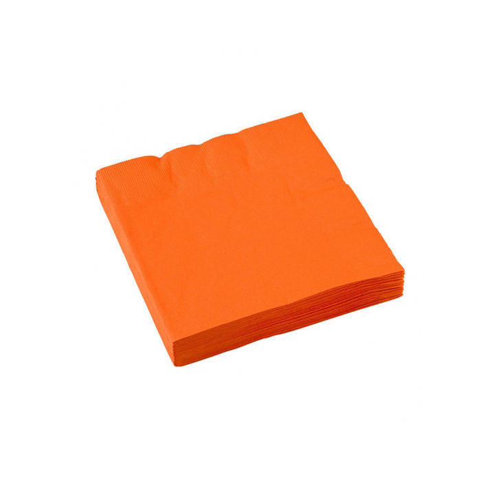 Servietten orange, 20 Stk. 33 x 33 cm