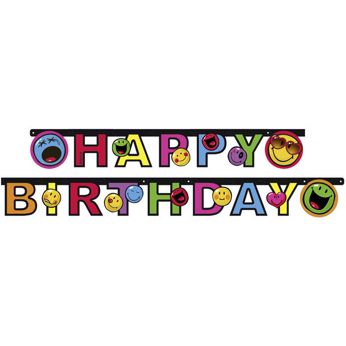 Girlande Happy B.day Smiley Express Yourself Bild 2