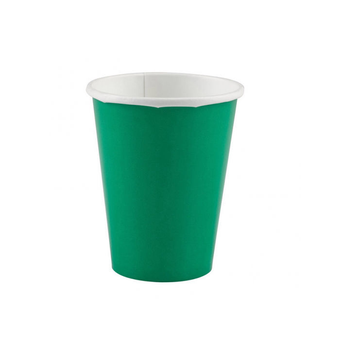 Becher festive green, 266 ml, 8 Stk.