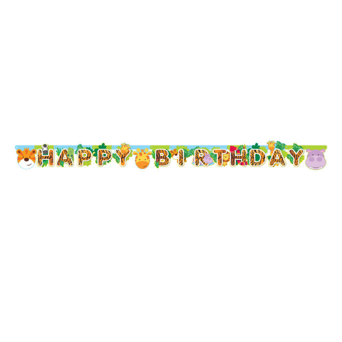NEU Girlande Happy Birthday Dschungel Party, 1,8 m