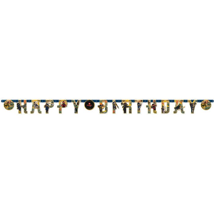 SALE  Girlande Happy Birthday Lego Ninjago, 2 m