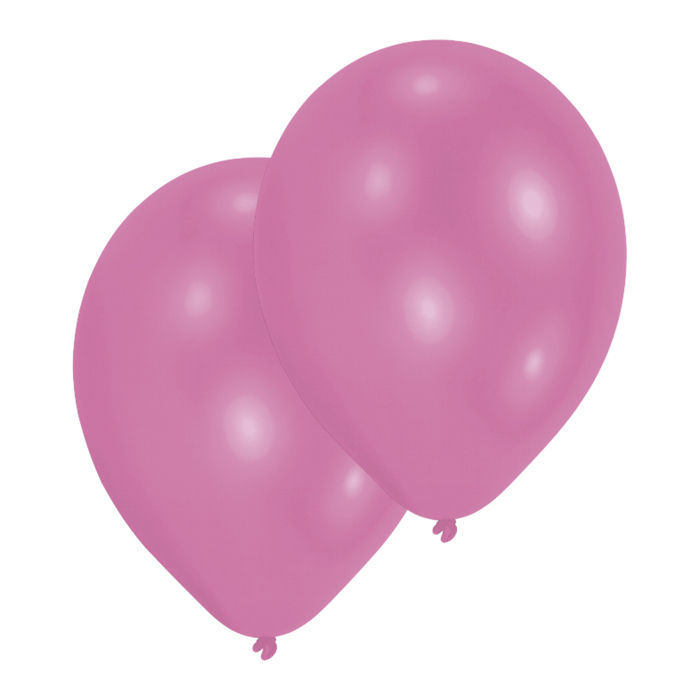 Luftballon Metallic-Pink 10er-Pack