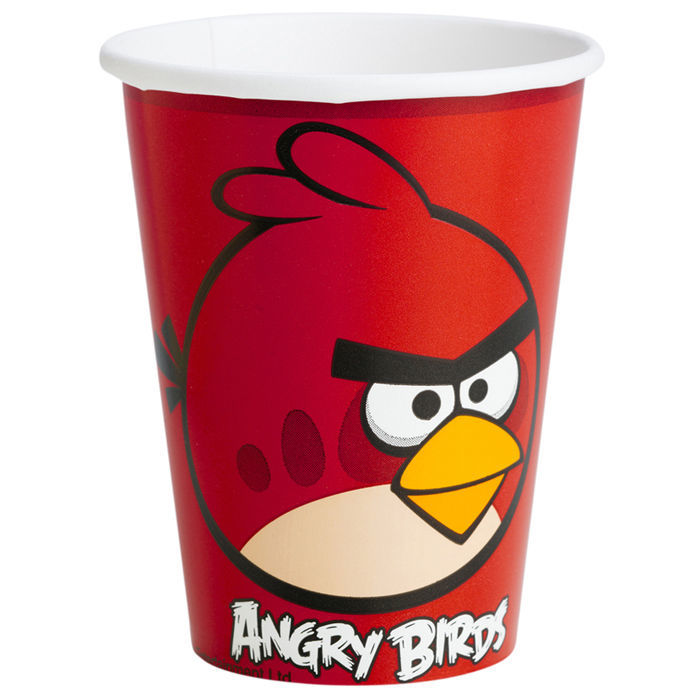 Becher Angry Birds 8 Stk. 250 ml