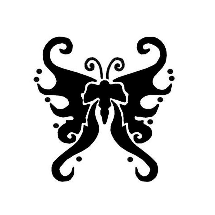Tattoo / Schmink-Schablone Schmetterling 5x6cm - Alles für den ...