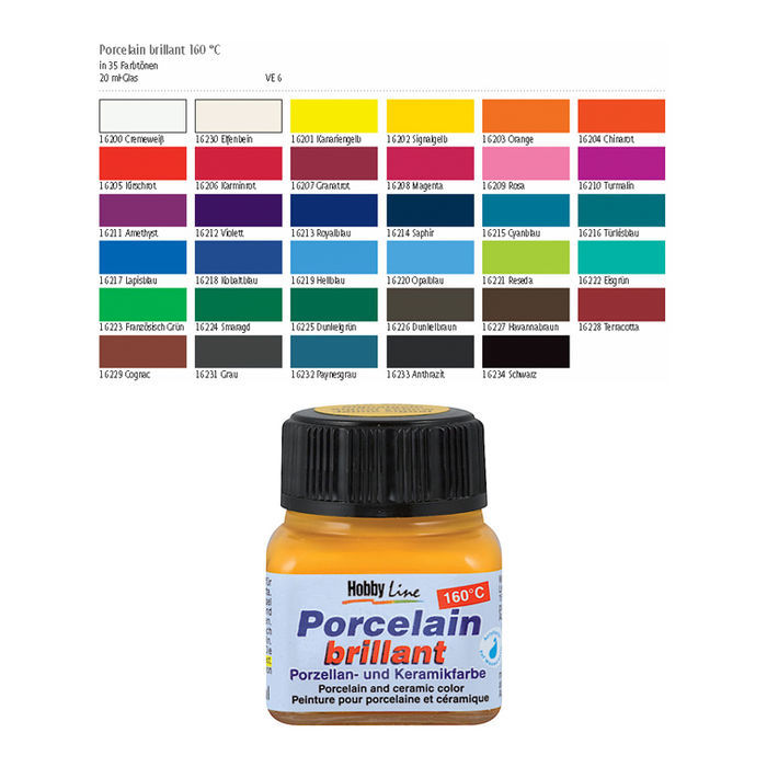 SALE Hobby Line Porzellanmalfarbe 20ml, Terracotta Bild 2